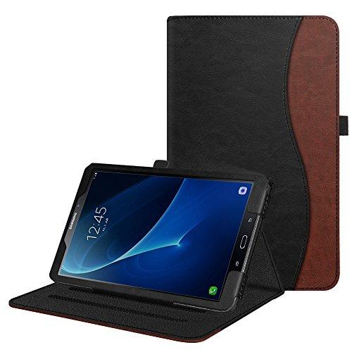 Fintie Hülle für Samsung Galaxy Tab A 10,1 Zoll T580N/ T585N Tablet - Multi-Winkel Betrachtung Schutzhülle Cover Case mit Dokumentschlitze, Standfunktion, Auto Wake/Sleep Funktion, doppelfarbig A6-tablett