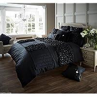 New Luxury Verina copripiumino con set di biancheria da letto copripiumino letto matrimoniale copripiumino |, Verina Black, Singolo