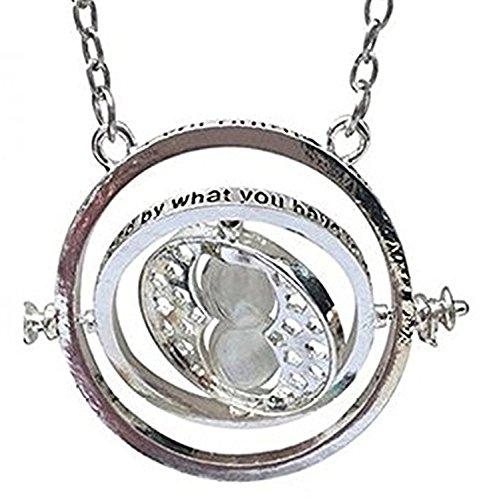 Inception Pro Infinite Collana Hermione Giratempo Con Clessidra Time Turner Girevole Time Travel Con Sabbia - Colore Argento