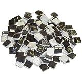229302810x 10x 3mm 70g 150-tlg. Keramik glasiert Mosaik Fliesen, schwarz