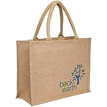 Back to Earth HomeStop Basic Jute Bag (Brown, Free Size)