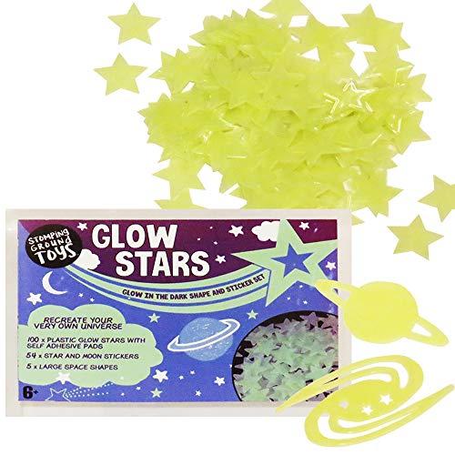 Wholesale Solutions-Multi Pack Glow in the Dark Sterne Aufkleber für Kinder Schlafzimmer und Kinderzimmer (In Dark The Schlafzimmer Glow)