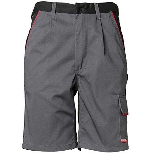 Planam Shorts Highline, Größe M, schiefer / schwarz / rot, 2372048