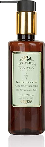 Kama Ayurveda Lavender Patchouli Body Moisturiser with Pure Essential Oils of Lavender and Patchouli, 200ml