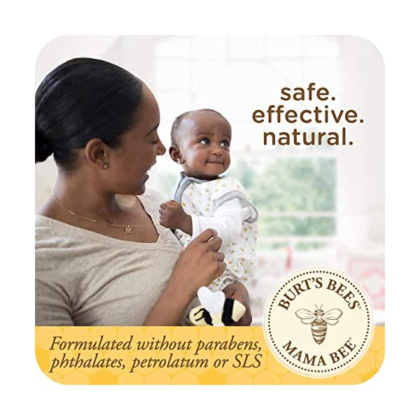 Burt's Bees Mama Bee 99% Natural Nourishing Belly Butter, Shea Butter and Vitamin E, Fragrance Free Lotion, 185