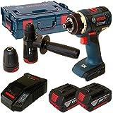 Bosch Professional 06019E1103 Atornillador Gsr 18 V-Ec Fc2 Professional,Tecnología de Litio, Negro / Azul