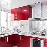 Pegatina de vinilo perlada, de 60 x 200 cm, para renovación de muebles, de EMVANV, Rojo, Tamaño libre