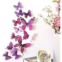 Macxy - Qualifizierte Wand-Aufkleber 12st Aufkleber Wand-Aufkleber Dekorationen 3D Schmetterlings-Regenbogen [... preisvergleich bei billige-tabletten.eu
