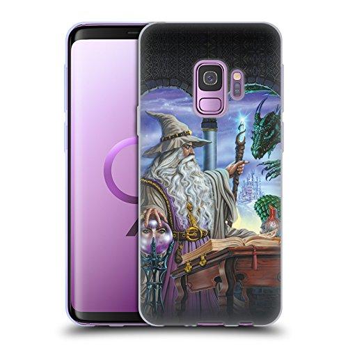 Offizielle Ed Beard Jr Botschafter Drachen Von Dem Zauberer Fantasie Soft Gel Hülle für Samsung Galaxy S9