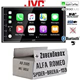 Alfa Romeo 159 Spider Brera Navi Bose - Autoradio Radio JVC KW-M745DBT - DAB+   Bluetooth   Android Auto + Apple CarPlay- Einbauzubehör - Einbauset