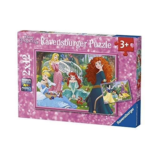 Ravensburger - Puzzle 2 x 12, Disney Princess (07620)