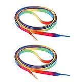 MagiDeal Paire Lacets Tricotés Patins à Roulettes Corde Chaussures Sport Extérieur - Multicoloré #2, 180x1cm
