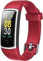 YAMAY Smartwatch Orologio Fitness Tracker Uomo Donna Pressione Sanguigna Smart Watch Cardiofrequenzimetro da Polso...
