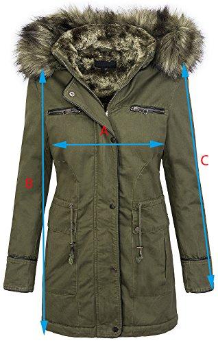Winter damen jacke damen parka mantel damenjacke mit kapuze fellkragen D-214 Camel