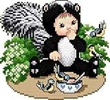 Ellen Maurer-Stroh | Kreuzstichvorlage Stickvorlage - Skunk Baby