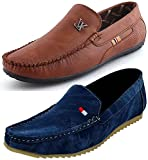 Maddy Combo Pack of 2 Loafer Shoes For Men In Various Sizes
