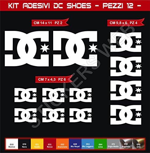 Aufkleber stickers DC SHOES DCSHOES -Motorrad- Cod. 0574 (Bianco cod. 010)