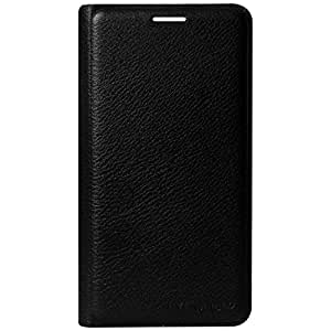 Dashmesh Shopping for Reliance Jio Lyf Water 7, Premium Durable Leather Flip Cover Case For Reliance Jio Lyf Water 7 - Black