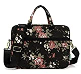 Best kayond Messenger Bags - KAYOND Black Chinese Rose Patten Canvas Laptop Shoulder Review