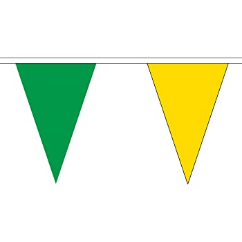 RED AND /& GREEN 20 metre TRIANGLE BUNTING 30 FLAGS flag TRIANGULAR 54 FLAGS