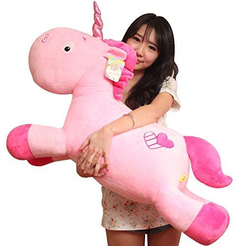 VineCrown Kids Baby Plush Toys Unicorn Soft Toys Pillow Plush Unicorn Cushions Gifts (80cm, Pink Pegasus)