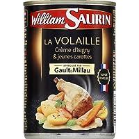 William Saurin La Volaille crème d'Isigny & jeunes carottes La boîte de 400g - Prix Unitaire - Livraison Gratuit...