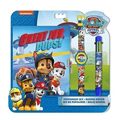 PAW PATROL - Set con Reloj, Diario y bolígrafo (Kids PW16177) de Kids
