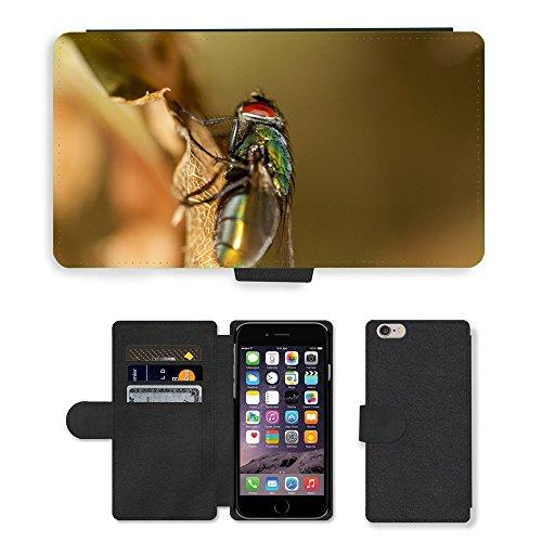 Just Mobile pour Hot Style Téléphone portable étui portefeuille en cuir PU avec fente pour carte//m00139816Fly insectes Nature Bug Pest Macro//Apple iPhone 6Plus 14cm