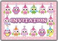 cartes d' invitation chouette-s hiboux