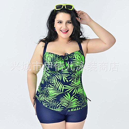 Mme summer maillot de bain, maillot de bain Maillot de timbre plus grand-YU&XIN Light Green