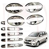 #10: RedClub Galio/ Prius Handle/ Catch Covers & Finger Guards Combo for Toyota Innova (Old Model, Type 1) (Chrome) [Made in India] with Complementary 01 Pair of RedClub Blind Spot Mirrors + RedClub Pen Free