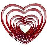 Kingstons 6pcs/set Love Herz Form Biscuit Cookie Cake Maker Form Rand Schere DIY Backen Werkzeug (rot)