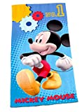 BERONAGE Disney Badetuch Mickey Mouse 75cm x 150 cm - Motiv Mickey Go Neu & Ovp - 100% Baumwolle - Strandlaken - Strandtuch - Badelaken - Handtuch Saunatuch - Micky und Mini Maus - Minnie