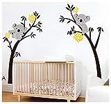 BDECOLL bebe koala stickers-Koala endormi et branche d'arbre stickers famille voiture-decoration maison murale-deco salon moderne-Arbre Stickers Muraux pour Chambre...