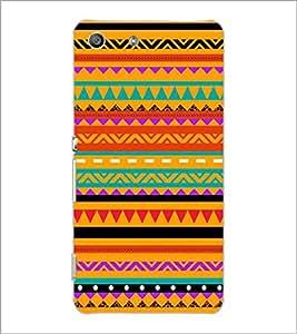SONY XPERIA M5 ZIG ZAG PATTERN Designer Back Cover Case By PRINTSWAG