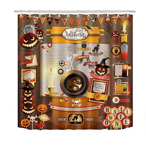males Mat perro en EL Diablo Halloween Disfraz en la chimenea, y la Luna Grande lavable puerta alfombra baño Decor Home accesorio 60x40cm ()