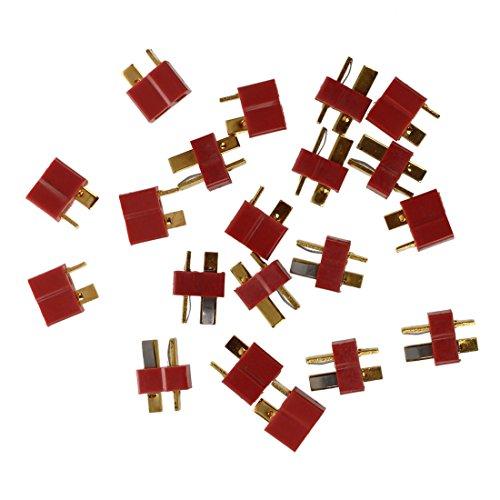 SODIAL (R) 10 Paar Deans Rutschfester T-Stecker Maennliche + Weibliche RC ESC-Batterie