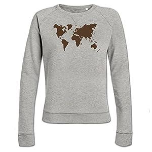 Shirtcity Sudadera de Mujer Mapa del Mundo by