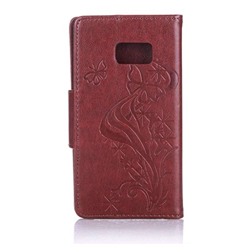 Uming® spéciales Séries Motif Colorful Imprimer cas PU Holster Case ( Diamond Embossing Dandelion Black - pour IPhone6SPlus IPhone 6SPlus 6Plus IPhone6Plus ) Artificial-cuir flip avec support Stander  Diamond Embossing Butterfly Brown