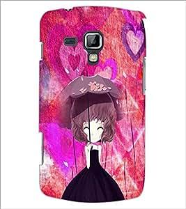 PrintDhaba Umbrella Girl D-4661 Back Case Cover for SAMSUNG GALAXY S DUOS 2 S7582 (Multi-Coloured)