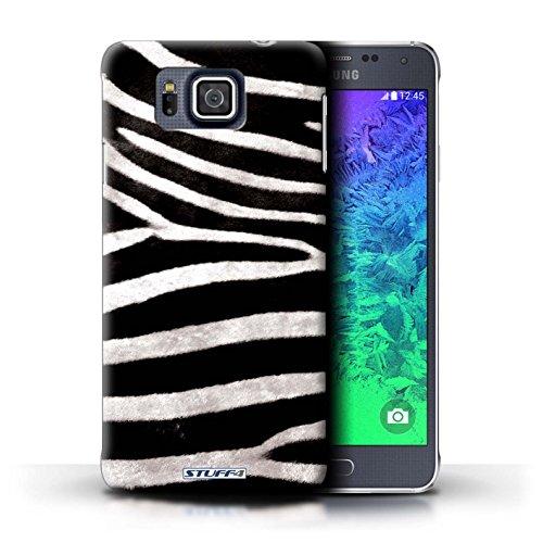 Kobalt® Imprimé Etui / Coque pour Samsung Galaxy Alpha / Vache/Brown conception / Série Motif Fourrure Animale Zèbre