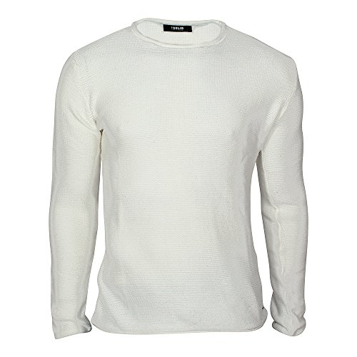 Solid Jarah Strickpullover, Herren, Medium, Altweiß (Solid Crewneck Pullover)