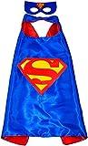 Superman Superhéroes de disfraces para niños - Cape y máscara - Juguetes para niños y niñas - Disfraz para niños de 3 a 10 años - para Fasching o temática de fiestas. Mungo - King - kmsc008