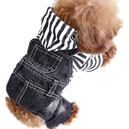 SILD Cool Vintage Washed Denim-Overall für kleine Hunde und Katzen, Jeansjacke, erhältlich in 3 verschiedenen Ausführungen (Cool Verschiedene Kostüm)