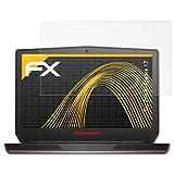 atFolix Panzerfolie kompatibel mit Dell Alienware 17 Schutzfolie, entspiegelnde & stoßdämpfende FX Folie (2X)