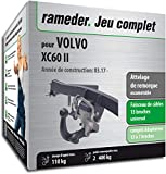 Rameder Attelage escamotable pour Volvo XC60 II + Faisceau 13 Broches...