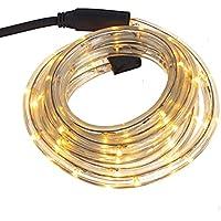 Smartfox LED Lichterschlauch Lichterkette Licht Schlauch 6m für Innen- und Aussenbereich mit 144 LEDs in Warmweiß