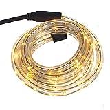 Smartfox LED Lichterschlauch Lichterkette Licht Schlauch 2m für Innen- und Aussenbereich mit 48 LEDs in Warmweiß