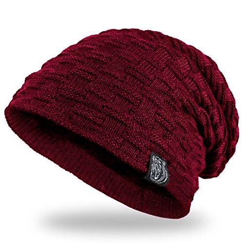 ANVEY Slouch mütze winter ski Beanie hut unisex Rot