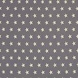 Baumwoll-Popeline - Sterne - grau/weiß